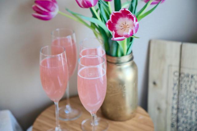 pink spa cocktails